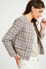 Multi Color Lined Tweed Jacket
