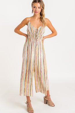 Springtime Striped Jumpsuit
