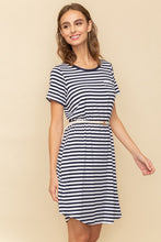 Cannes Stripe Belted T-Shirt Dress - Cactus Lounge Boutique