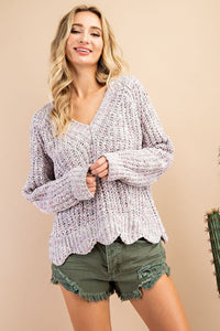 Savannah Chenille Sweater - Cactus Lounge Boutique