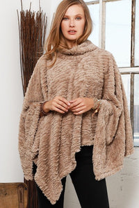 Plush Soft Faux Fur Poncho