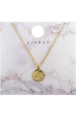 Hammered Gold Coin Necklace - Cactus Lounge Boutique