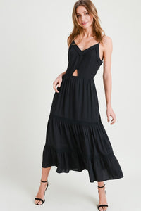 Isabella Black Cut Out Dress