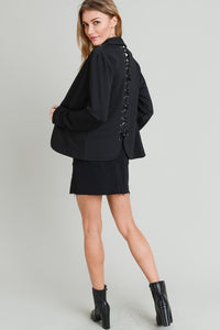 Black Lace Up Jacket