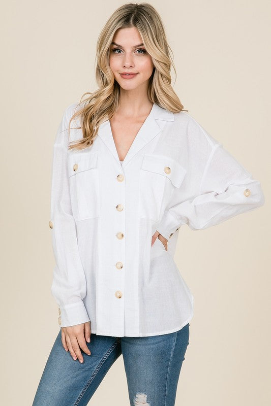 Palm Springs Button Down Top - Cactus Lounge Boutique