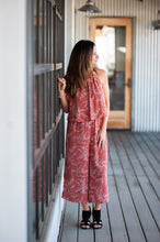 Montauk Dark Salmon Jumpsuit