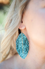 Snake Print Leather Leaf Earrings - Cactus Lounge Boutique