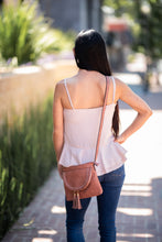 Pleated Front Cami with Ruffle Hem - Blush - Cactus Lounge Boutique