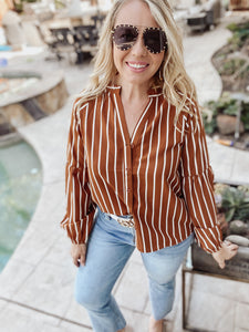 Fawn Striped Blouse