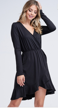 Long Sleeve Black Dress - Cactus Lounge Boutique