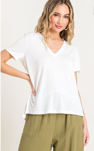 Modal V-Neck Everyday Tee - Cactus Lounge Boutique