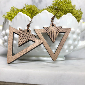 North Park Wooden Earrings