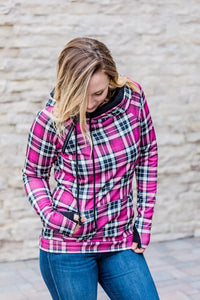 Pretty in Pink Plaid Double Hoodie