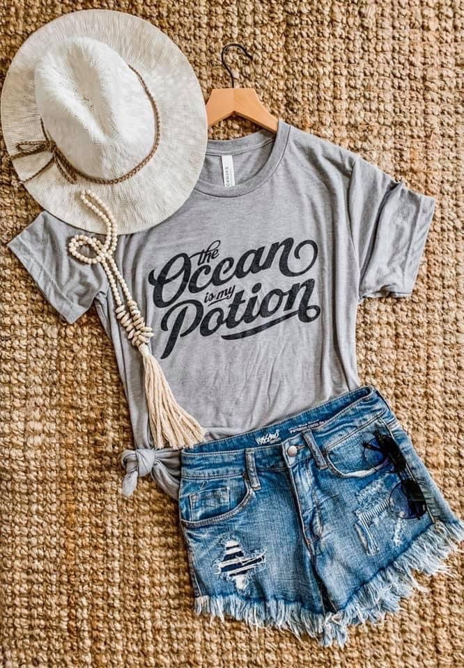 Ocean is my Potion Tee - Cactus Lounge Boutique