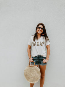 Vacay Leopard Tee - Cactus Lounge Boutique