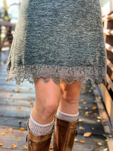 Lace Hem Dress - Olive - Cactus Lounge Boutique