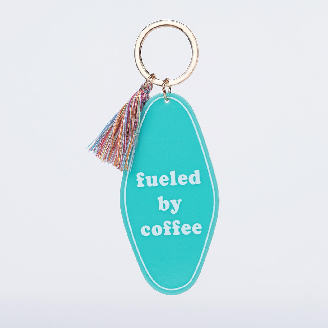 Fueled By Coffee Keychain - Cactus Lounge Boutique
