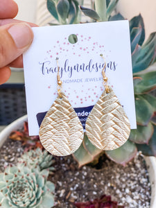 Small Metallic Braided Teardrop Earrings - Cactus Lounge Boutique