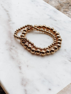 Merry Gold-Round Stacking Bracelets - Cactus Lounge Boutique