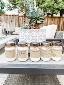 Jumbo Farmer's Market Mason Jar Candles - Cactus Lounge Boutique