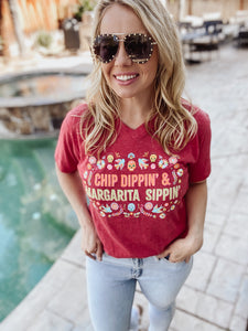 Chip Dippin' & Margarita Sippin' Tee - Cactus Lounge Boutique