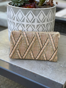 Straw Lattice Crossbody Bag - Cactus Lounge Boutique