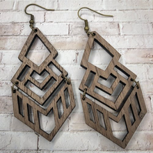 Wooden Chandelier Earrings - Cactus Lounge Boutique