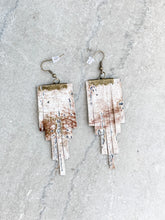 Tan Leather Fringe Earrings - Cactus Lounge Boutique