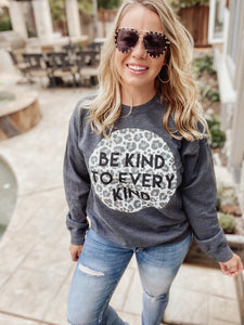 Be Kind to Every Kind Leopard Sweatshirt