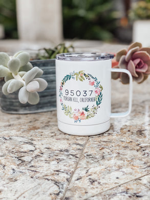 Zip Code Stainless Steel Cup - Cactus Lounge Boutique