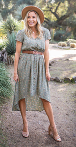 Sage Floral Meadow Dress
