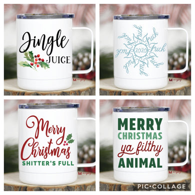 Holiday Stainless Steel Travel Mugs - Cactus Lounge Boutique