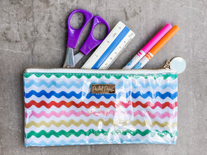 Wavy Fun Brush Pouch or School Item Organizer! - Cactus Lounge Boutique