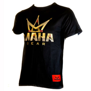 "Short Sleeve ""Golden Maha"" Tee - Maha Fight Gear"