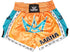 Maha Sak Yant Muay Thai Shorts - Orange/Teal