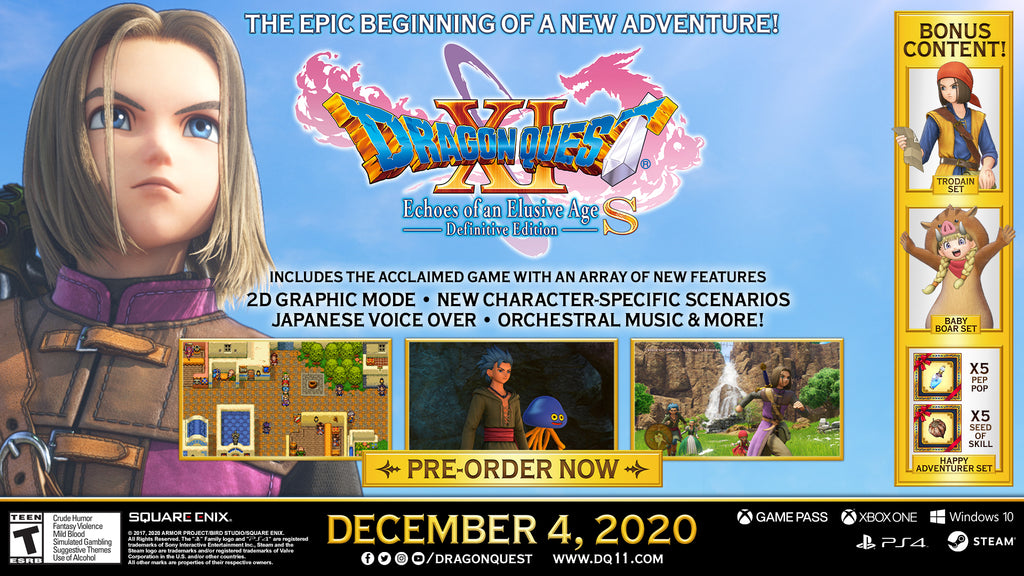 START YOUR GRAND ADVENTURE IN DRAGON QUEST XI S ECHOES OF AN ELUSIVE AGE – DEFINITIVE EDITION