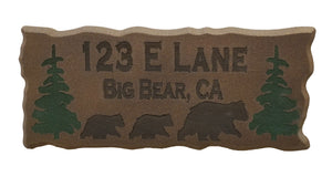 Personalized Pine wood sign (with colored text)