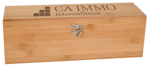 Bamboo Single Wine Box with Tools