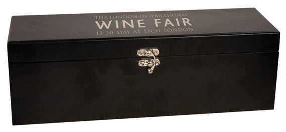 Black Finish Single Wine Box with Tools