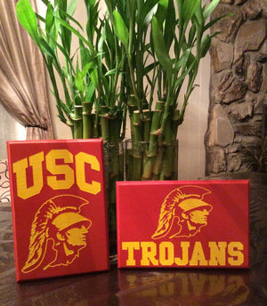 USC Trojans Wood sign pine wood