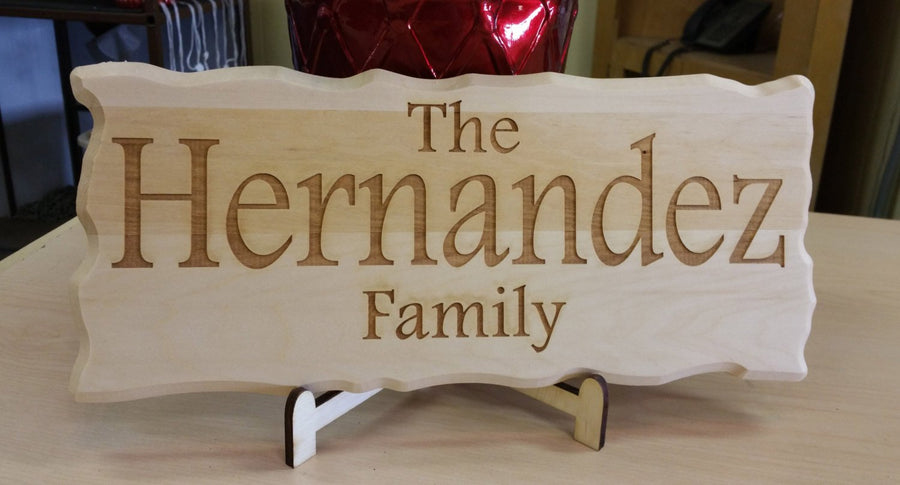 Personalized Pine wood sign