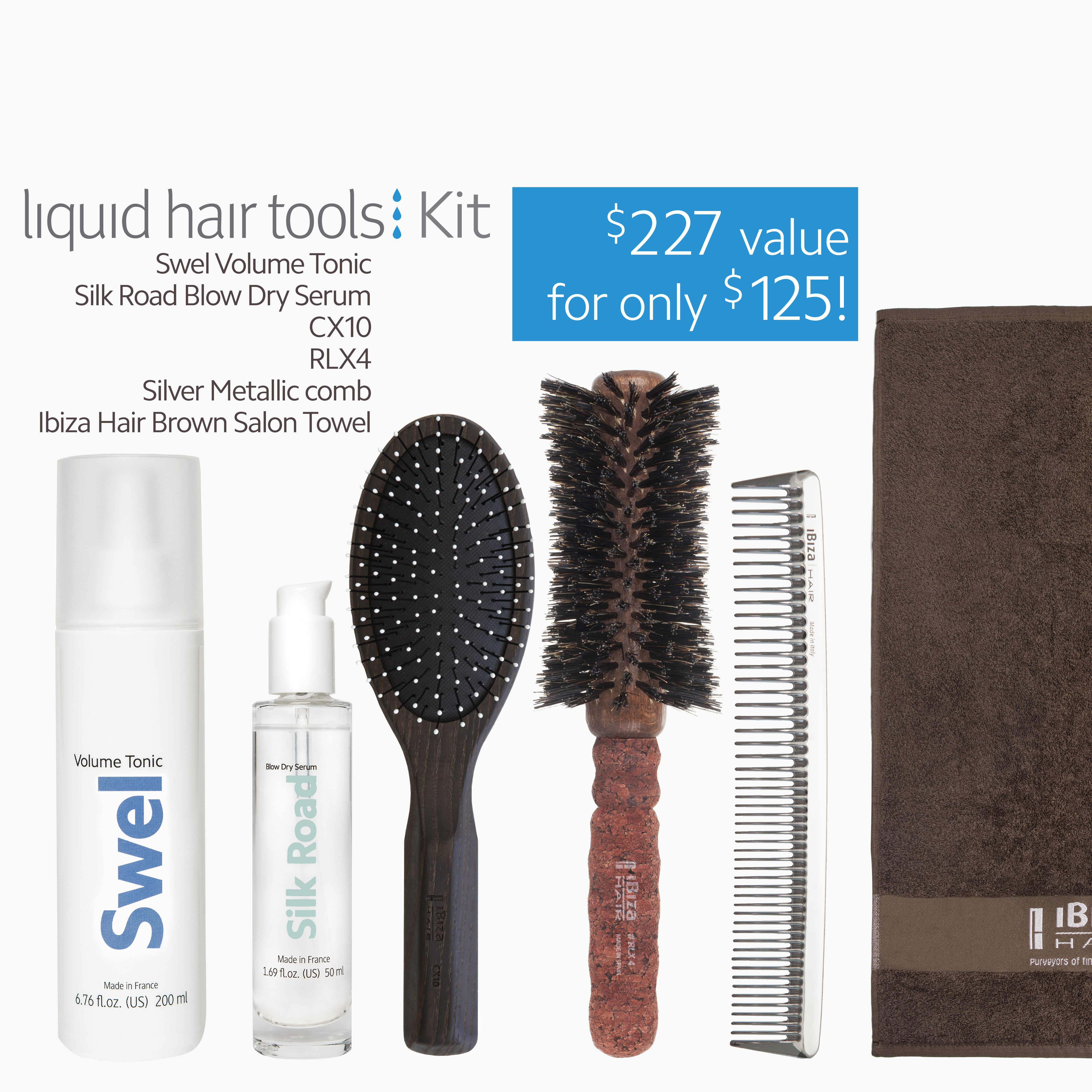 liquid hair tools kit