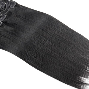 SPA HAIR Brazilian Straight Virgin Hair ClipIn Human Hair Extensions 16-22inches 7 Pieces/Set Natural Color 120g/set