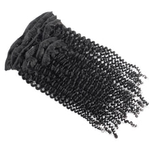 Load image into Gallery viewer, SPA HAIR 7 Pieces/Set Kinky Curly ClipIn Hair Extensions 100% Virgin Remy Human Hair