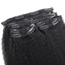 Load image into Gallery viewer, SPA HAIR Kinky Straight Clip In Extensions 7 Pieces/Set