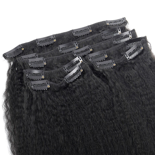 SPA HAIR Kinky Straight Clip In Extensions 7 Pieces/Set
