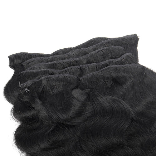 SPA HAIR Body Wave 100% Human Hair ClipIn Extensions 7 Pieces/Set
