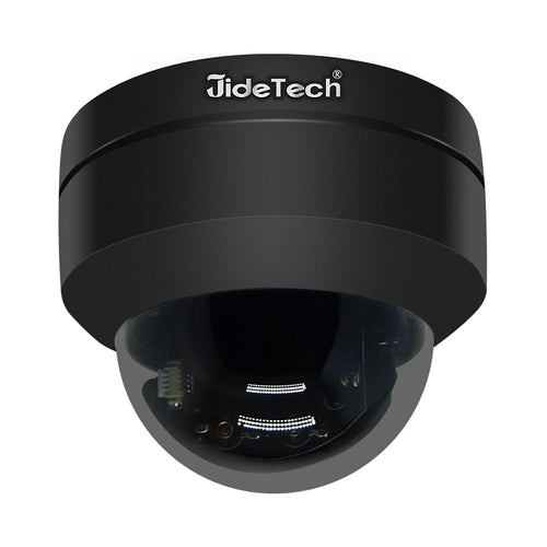 JideTech HD 1080P Black Metal 4X Zoom PTZ POE IP Security Camera