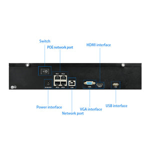 JideTech 4CH 5MP Wired POE Security System