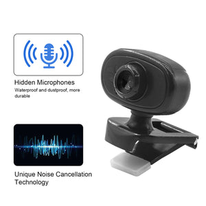HD Webcam Manual Focus USB Web Camera with Microphone